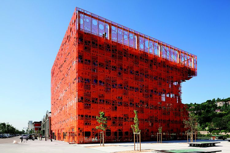 橘色方块-建筑图
