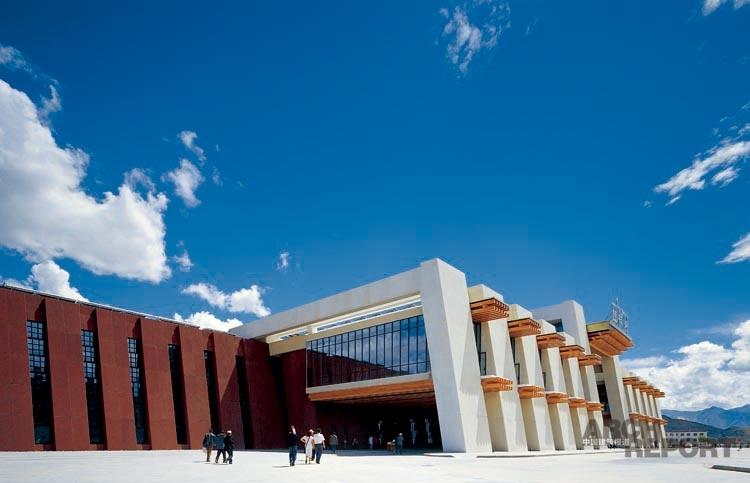 拉萨火车站-建筑图