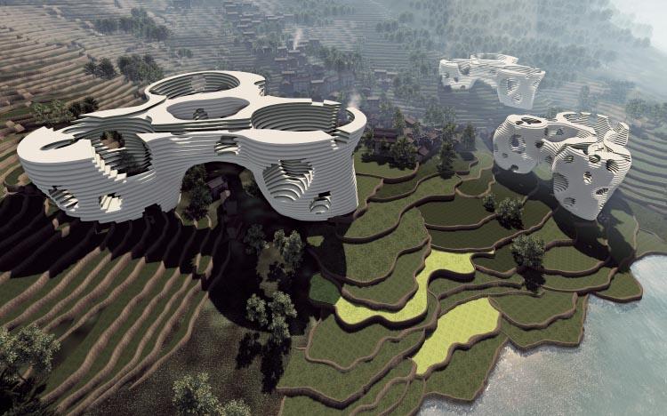 岩排溪村-建筑图