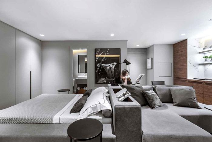 精致空间的42平米小公寓装修设计-建筑图